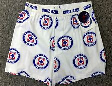 Official Boxer Cruz Azul Color White + Free Coaster