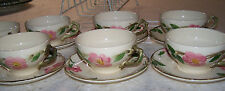 Vintage Franciscan Desert Rose Set of 12 small cups and saucers -MINT