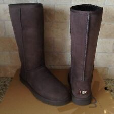 UGG Classic Tall Boots Chocolate Brown Suede Sheepskin Womens US 10 Womens