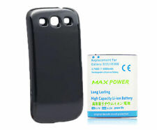 4500mAh Extended Battery + Black Back Case for Samsung Galaxy S3 S 3 III i9300