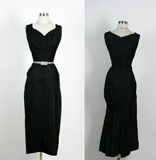 Vintage 50s 60s Elegant Hourglass Mermaid Pin Up Cocktail Party Dress M