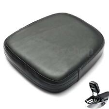 Motorcycle Black Leather Backrest Passenger Seat Cushion Pad For Harley Type A