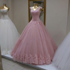 Elegant Cap Sleeve Ball Gown Prom Dress Quinceanera Dresses Lace Up Puffy Gown+