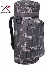 Black & Gray Subdued Urban Digital Camouflage MOLLE Tactical Water Bottle Pouch