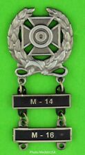 Army Expert Marksmanship Badge with M-14 & M-16 Qualification Bars