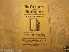 Jamb Supporting Stay Co Brochure Building Construction Vintage Advertising