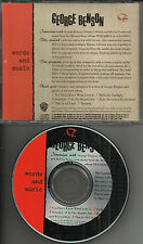 GEORGE BENSON INTERVIEW Words and Music PROMO CD 1989