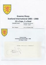 GRAEME SHARP SCOTLAND INT 1985-1998 ORIGINAL HAND SIGNED CUTTING/CARD