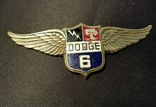 1928 1929 DODGE BROTHERS VICTORY 6 SIX EMBLEM MASCOT NAME PLATE MOPAR CHRYSLER