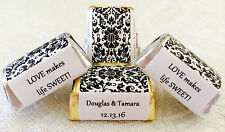 210 DAMASK PATTERN Personalized Candy labels/wrappers/stickers for wedding/party