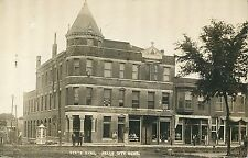 A View of the State Bank & Shops, Falls City NE RPPC 1910
