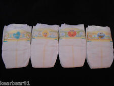 Lot of 4 (four) Pampers Swaddlers Size 1 Diapers Reborn Baby Doll