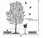 The LARGE Tree Birds fence wall stickers Decal Removable Art Vinyl Decor DIY