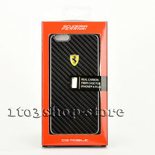 Ferrari Real Carbon Fiber Hard Case Cover for iPhone 6 Plus iPhone 6s Plus Black