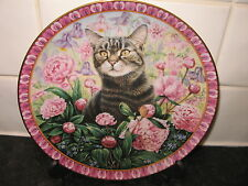 THE FOUR SEASONS CAT PLATE  -   CHRISTIE IN SUMMER   - DANBURY MINT