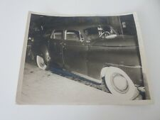 Vintage Photo of a Car in Cuba with Bullet Holes - Cuban late 1940s or 1950s