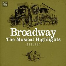 BROADWAY-MUSICAL HIGHLIGHTS 3 CD NEU ROCKY HORROR SHOW/LES MISERABLES/CATS/+