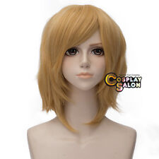 VOCALOID Kagamine Rin 35cm Golden Blonde Short Layered Anime Basic Cosplay Wig