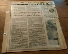 Vintage 70's Boxing Clippings MUHAMMAD ALI George Foreman FLOYD PATTERSON lot