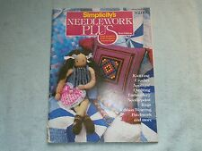 Simplicity's Needlework Plus From 1980 Knitting Crochet Applique Embroidery Rugs
