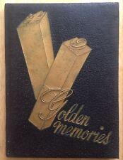 1949 HENDERSONVILLE HIGH SCHOOL YEARBOOK, THE GOLDEN MEMORIES, HENDERSONVILLE TN