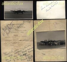 1947 RARE Dambuster Mick Martin & Ted Sismore, MOSQUITO Speed record to Capetown