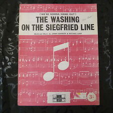 song sheet THE WASHING ON THE SIEGFRIED LINE, Jimmy Kennedy, Michael Carr