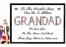 Grandad Word Art Print Gift personalised Uncle Brother Stepdad Xmas Birthday