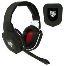Hot Optical Fiber 2.4G Wireless Stereo Gaming Headset Headphones for PC Xbox 360