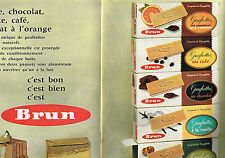 PUBLICITE ADVERTISING 054  1962   BRUN   biscuits  gaufrettes ( 2 pages)