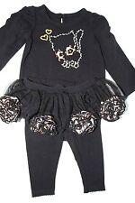 Koala Baby Black Top Legging with Tutu Skirt Sz 3 months NWT Animal Charm