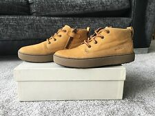 GEOX Yellow Leather woman shoes boots, UK Size 4,EUR size 37