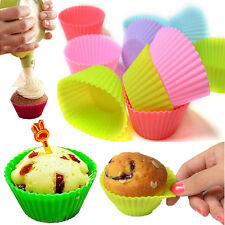 12 Ramequins En Silicone Moule A Muffin Gateau Chocolat Patisserie Cupcake Mold