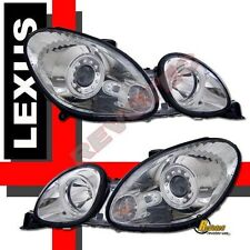 1998-2005 Lexus GS300 GS400 Dual CCFL Halo Projector Headlights Chrome 1 Pair