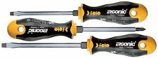 Felo 0715753173 Ergonic Slotted and Phillips Screwdrivers, Set of 3