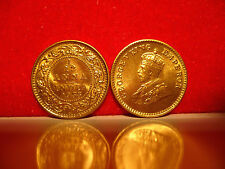 v rare 24ct GOLD on India 1/12 Anna 1933 BUNC new