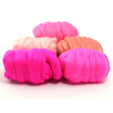 Posh Pink - Dyed Merino Wool Top - Felting - Roving - Spinning - 250g