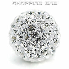 10MM DIY Clay Disco Balls Beads Czech Crystal Shamballa Pave Premium Quality !