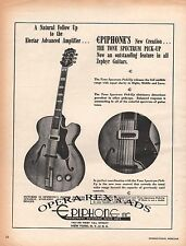 EPIPHONE, THE TONE SPECTRUM PICK-UP Original Oversized Print AD 1948