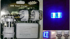 4 Port USB AC Adapter 2PAK LED Plug Home Travel Wall Charger iPhone Samsung Plus