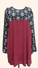 NEW Collection London Plus Knit Fabric Tunic Top SIZE 26/28