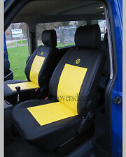 VOLKSWAGEN VW TRANSPORTER T4 BLACK & YELLOW VAN SEAT COVERS