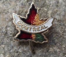 Montreal Canada Maple Leaf National Symbol Shaped Souvenier Tie Pin Brooch Badge