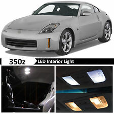 9x White Interior LED Lights Package Kit for 2003-2009 350z Fairlady Z