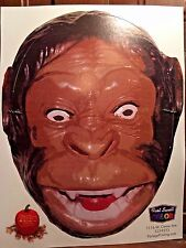 Scary Halloween Mask Cutout Portage MI Printing With Head Strap Costume MONKEY
