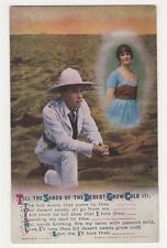 WW1, Till The Sands Of The Desert Grow Cold (1) Bamforth Postcard, B350