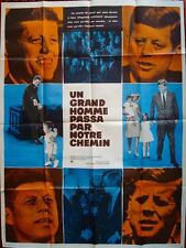 JOHN F KENNEDY YEARS OF LIGHTNING DAYS OF DRUMS French movie poster 47x63 1965