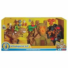 Fisher-Price Imaginext Dino Fortress Gift Set T Rex Dinosaur Volcano New in Box
