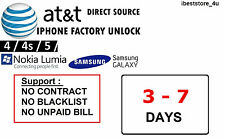 Samsung Galaxy NOTE 1 | 2 | 3 | 4 | 4 edge -AT&T FACTORY UNLOCK CODE SERVICE