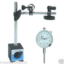 "1"" DIAL INDICATOR AND MAGNETIC BASE STAND TOOL MIC INDICATER GAUGE SET"